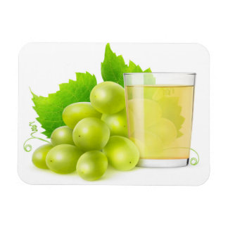 Grape juice rectangular photo magnet