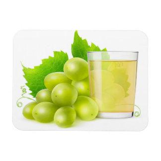 Grape juice rectangular photo magnet