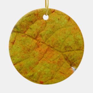 Grape Leaf Underside Ceramic Ornament