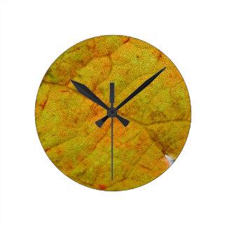 Grape Leaf Underside Round Clock