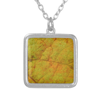 Grape Leaf Underside Silver Plated Necklace