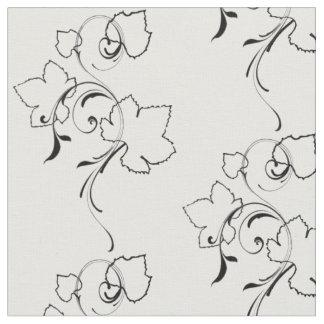 Grape Leaves and Flourishes - Fabric