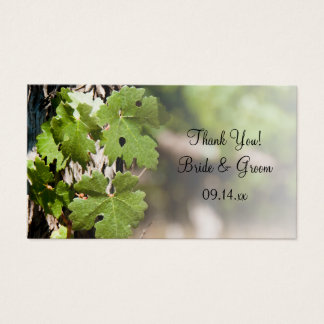 Grape Leaves Vineyard Wedding Favor Tags