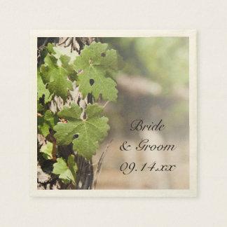Grape Leaves Vineyard Wedding Paper Serviettes