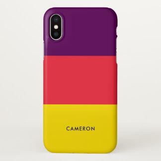 Grape Lemonade Personalized iPhone X Case