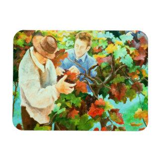 Grape Pickers 1996 Rectangular Photo Magnet
