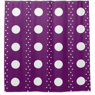 Grape Polkadot Stripes Shower Curtain
