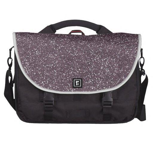 GRAPE purple BEE MINE GLITTER TEXTURE BACKGROUND T Laptop Messenger Bag