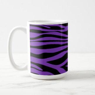 Grape Purple Zebra Stripes Animal Print Coffee Mug