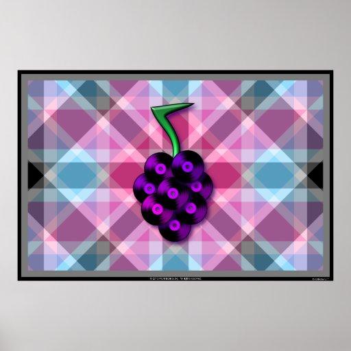 Grape records print (Customizable!)