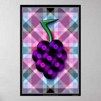 Grape records print - vertical (Customizable!)