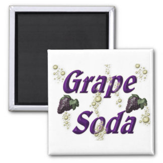 Grape Soda Square Magnet