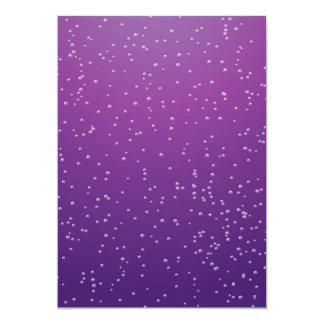 Grape Soda with Tiny Bubbles Background Art 13 Cm X 18 Cm Invitation Card