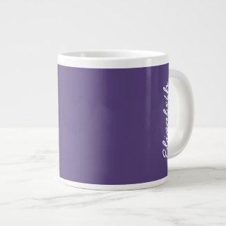 Grape Solid Color Large Coffee Mug