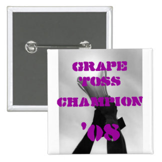 Grape Toss Champion 15 Cm Square Badge