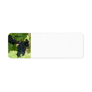 Grape Vine Return Address Label