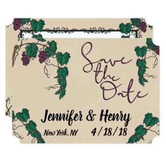 Grape Vine  Save the Date Card