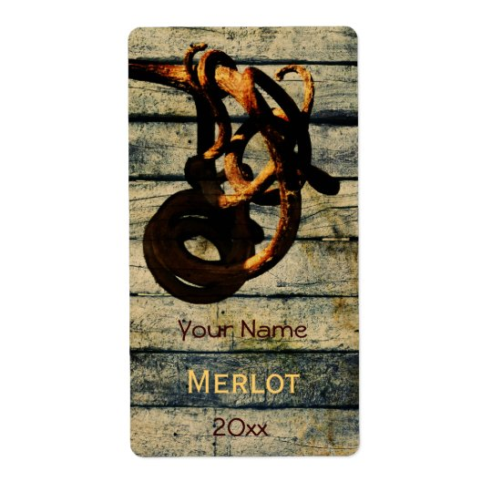 Grape vine tendril wine bottle label shipping label