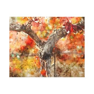 Grape Vines in the Fal Canvas Print