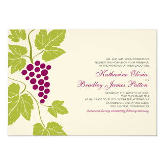 Grape Vines Wedding Invitation