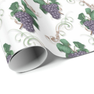 Grape wine pattern wrapping paper