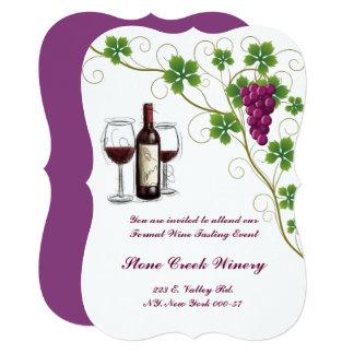 Grape Wine Tasting Event Party Invitation