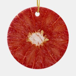 Grapefruit Ceramic Ornament