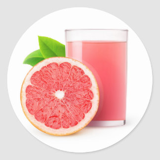 Grapefruit juice classic round sticker