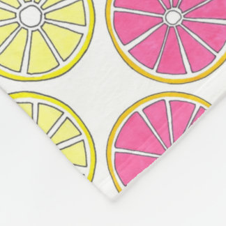 Grapefruit Lemon Lime Orange Citrus Fruit Slices Fleece Blanket