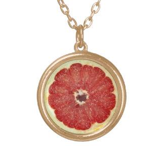 Grapefruit necklace