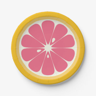 Grapefruit Slice 7 Inch Paper Plate