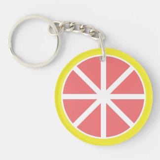 Grapefruit Slice Acrylic Keychain