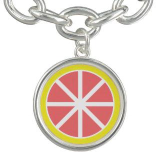 Grapefruit Slice Charm Bracelet