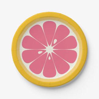 Grapefruit Slice Paper Plate