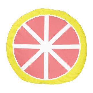 Grapefruit Slice Pouf
