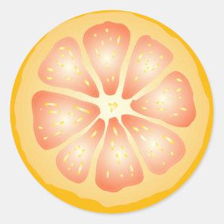 Grapefruit Slice Round Sticker