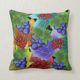 grapes and leaves cushion
