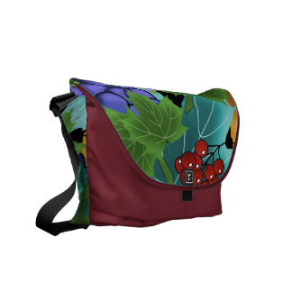 grapes and leaves messenger bag