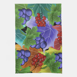 grapes and leaves tea towel