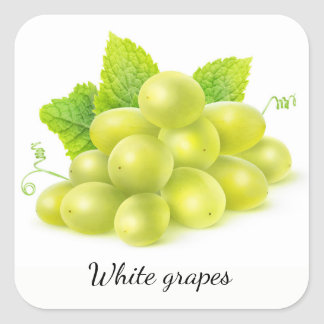 Grapes and mint square sticker