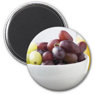 Grapes and Orange Juice 6 Cm Round Magnet