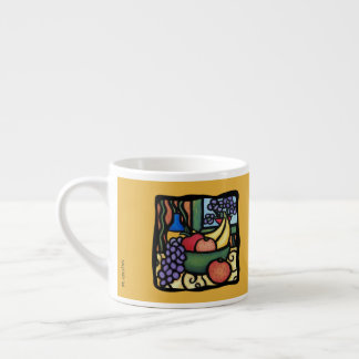 Grapes Apple Oranges Bananas Colorful Mixed Fruit Espresso Cup