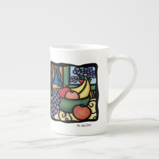 Grapes Apple Oranges Bananas Colorful Mixed Fruit Tea Cup