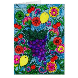 Grapes Bright Card