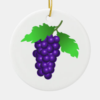 Grapes Ceramic Ornament