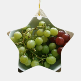 grapes ceramic ornament