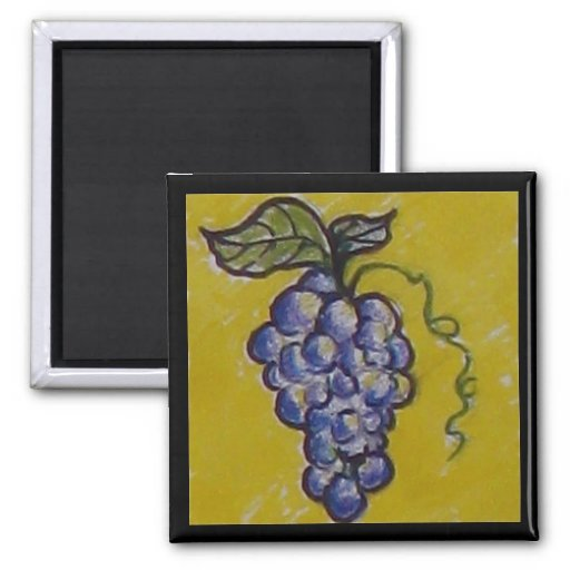 Grapes for the Picking! Fridge Magnets