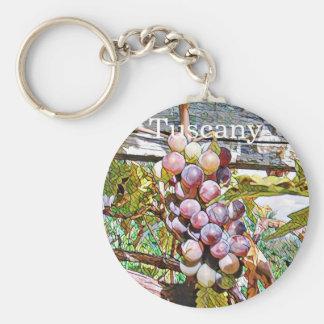 Grapes.Fruit vitrage.Tuscany. Key Ring