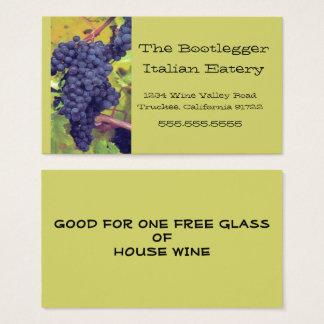 Grapes Italian Restaurant or Vinyard Business Card