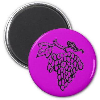 Grapes 6 Cm Round Magnet